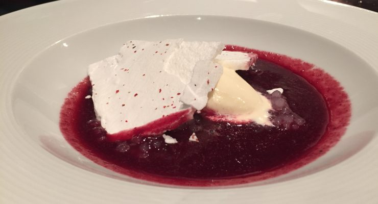 Moorilla red wine cherry soup