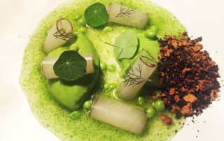 yellow-foodie-mookie-pea-mousse-pickled-daikon-toasted-buttermilk