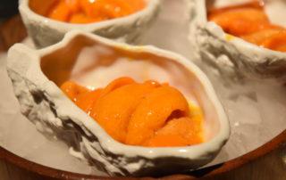 White Rabbit: Caviar of sea urchin, sea buckthorn an sea water
